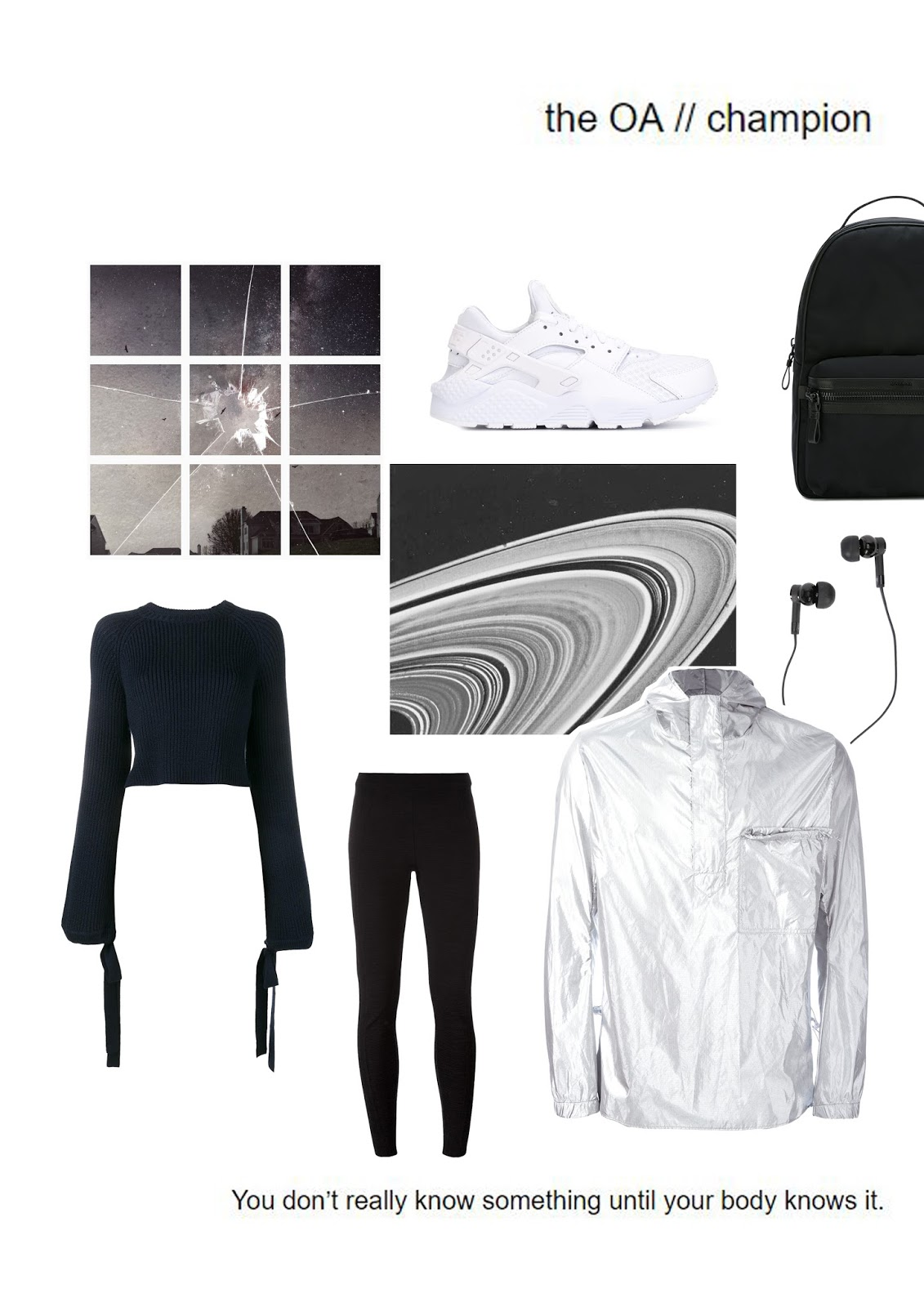 the oa, brit marling, collage, farfetch, activewear, outfit inspiration