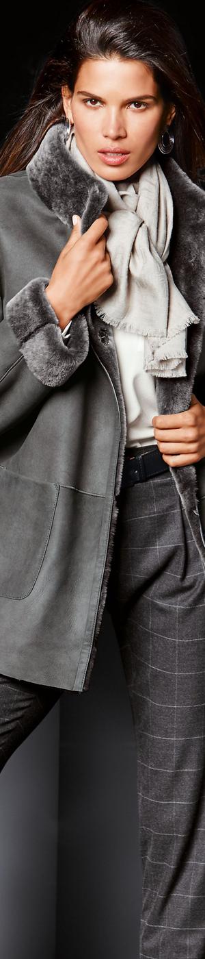 Madeleine Grey Leather Jacket