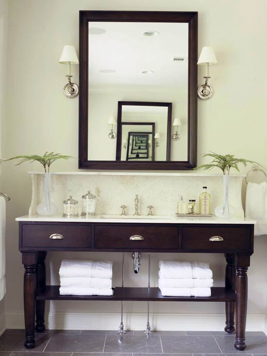 Open Vanity Bath Storage Home Appliance