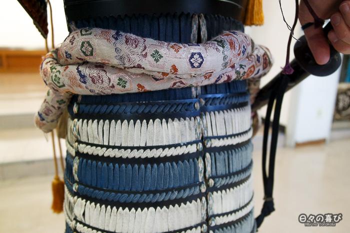 ceinture brodee armure samourai