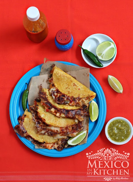 Tripe Quesadillas, another way to cook beef tripe.