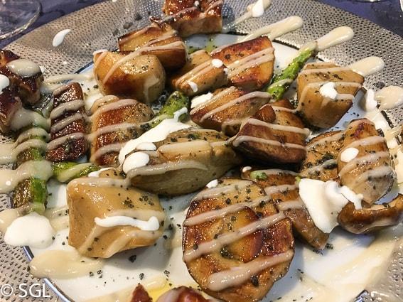 Comer en Bilbao. Hongos y trigueros en restaurante Nido