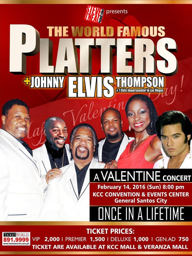 "The Platters + Johnny ""Elvis"" Thompson Valentines Day Concert"