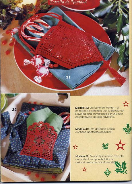 Pochette de Noël au crochet