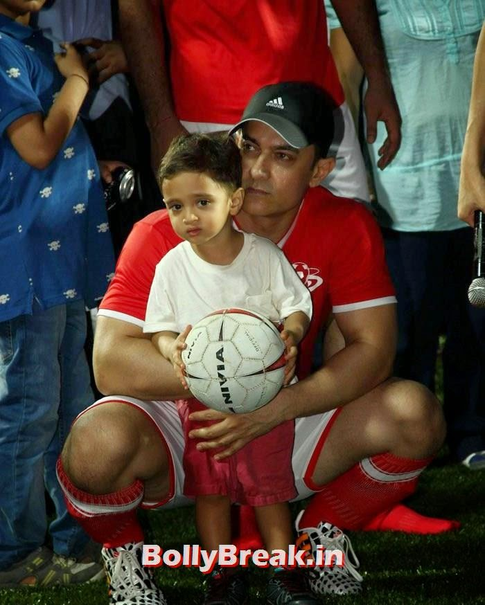 Aamir Khan,  Azad Rao Khan, Bollywood Celebs play football match for Aamir khan's daughter Ira Khan