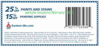 Sherwin Williams coupons february 2017