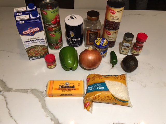 Vegetable Tortilla Stew Ingredients