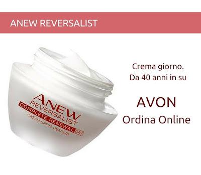 Avon Anew Reversalist Crema Giorno  SPF 25 dai 40 anni in su. Guarda il Catalogo Avon Online della Campagna in corso e scopri come acquistare i prodotti Avon. Presentatrice Avon. Opinioni, Recensioni, Tutorial e Review sui prodotti Avon.