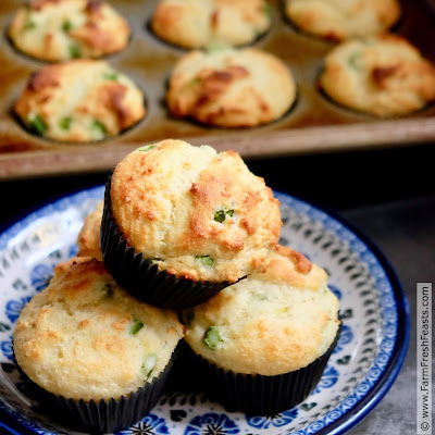 pic of a plate of muffins with asparagus and goat cheese