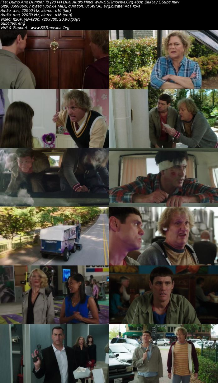 Dumb And Dumber To (2014) Dual Audio Hindi 480p BluRay ESubs