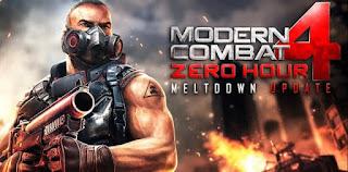 لعبة Modern Combat 4 لجميع الاصدارات الاندرويد + بدون فك الضغط