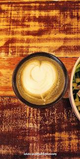 Matcha Latte @ In a bowl, Biru Biru Cafe