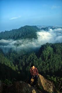 Beautiful scenery of Tebing Keraton in Bandung