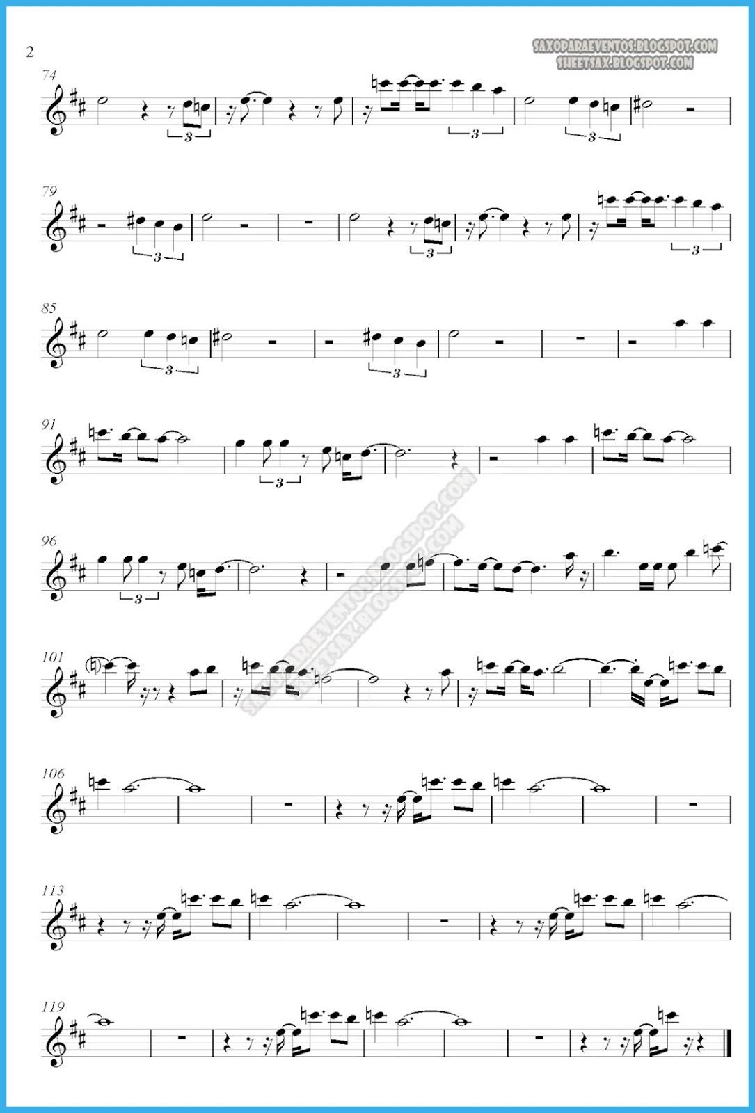 Music score of