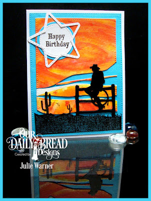 Our Daily Bread Designs Stamp Set: Ride 'Em Cowboy, Our Daily Bread Designs Custom Dies: Pierced Rectangles, Pierced Circles, Circles, Double Stitched Stars, Sparkling Stars