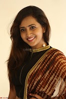 Lasya looks super cute in black choli Saree at Raja Meru Keka Press Meet ~  Exclusive 077.JPG