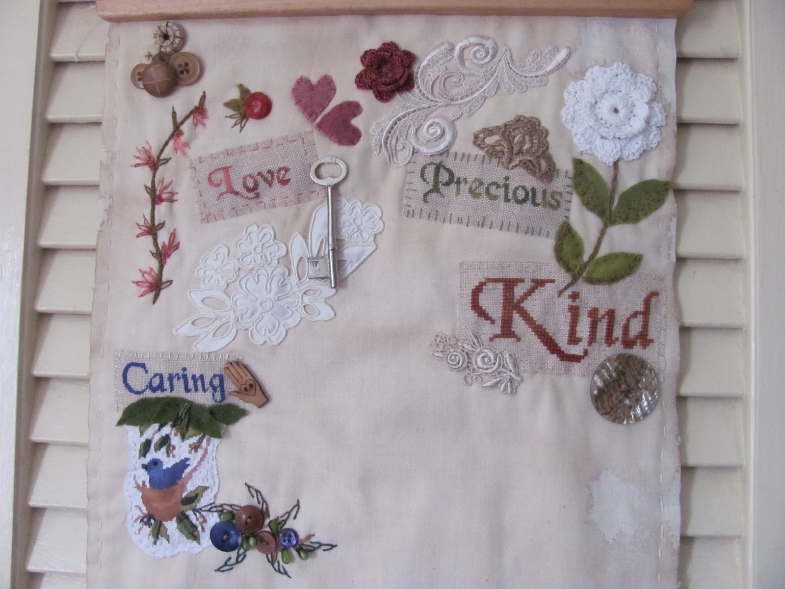 """By The Bay Needleart: Affirmation """"Caring"""""""