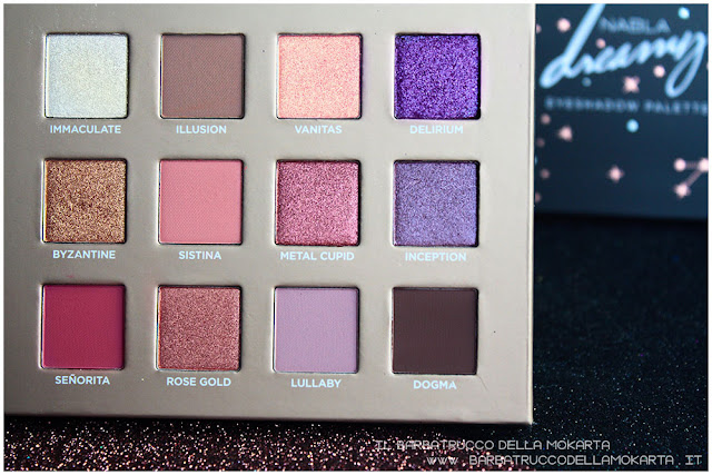 dreamy eyeshadow palette nabla cosmetics ombretti makeuplook