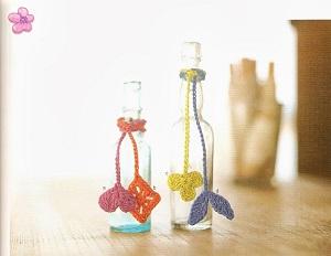 garrafas decoradas com crochê