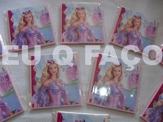 festa barbie o lago do cisne, brindes, lembrancinhas, kit maquiagem, espelho
