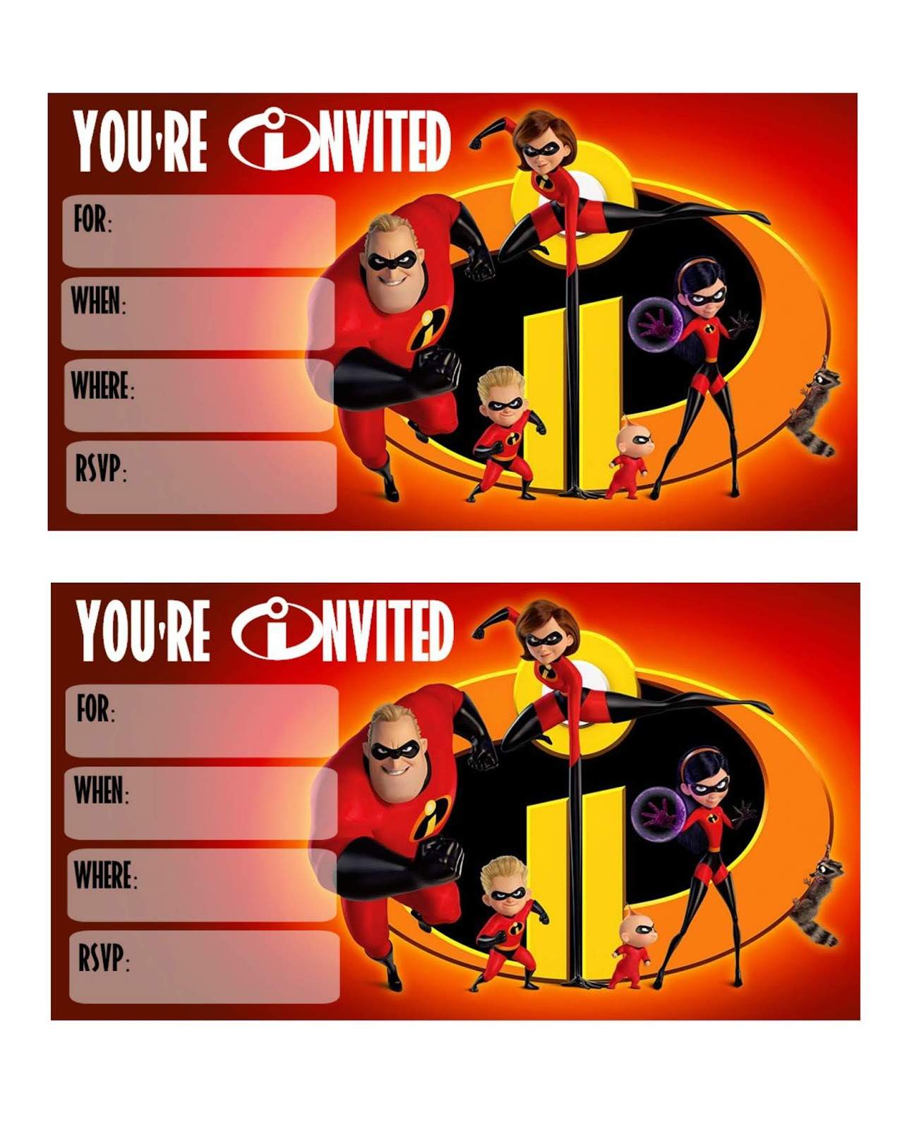 Musings Of An Average Mom Incredibles 2 Birthday Invitations