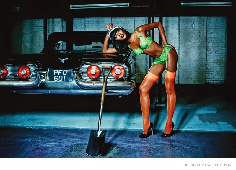 Naomi Cambell strips down to lingerie for the Agent Provocateur ... 02aa07dc3