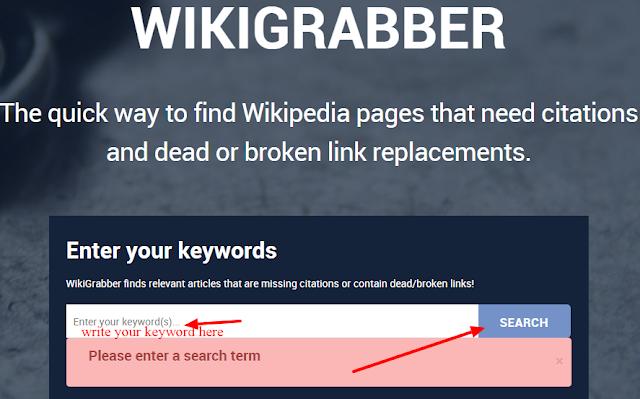 WikiGrabber dead link checker