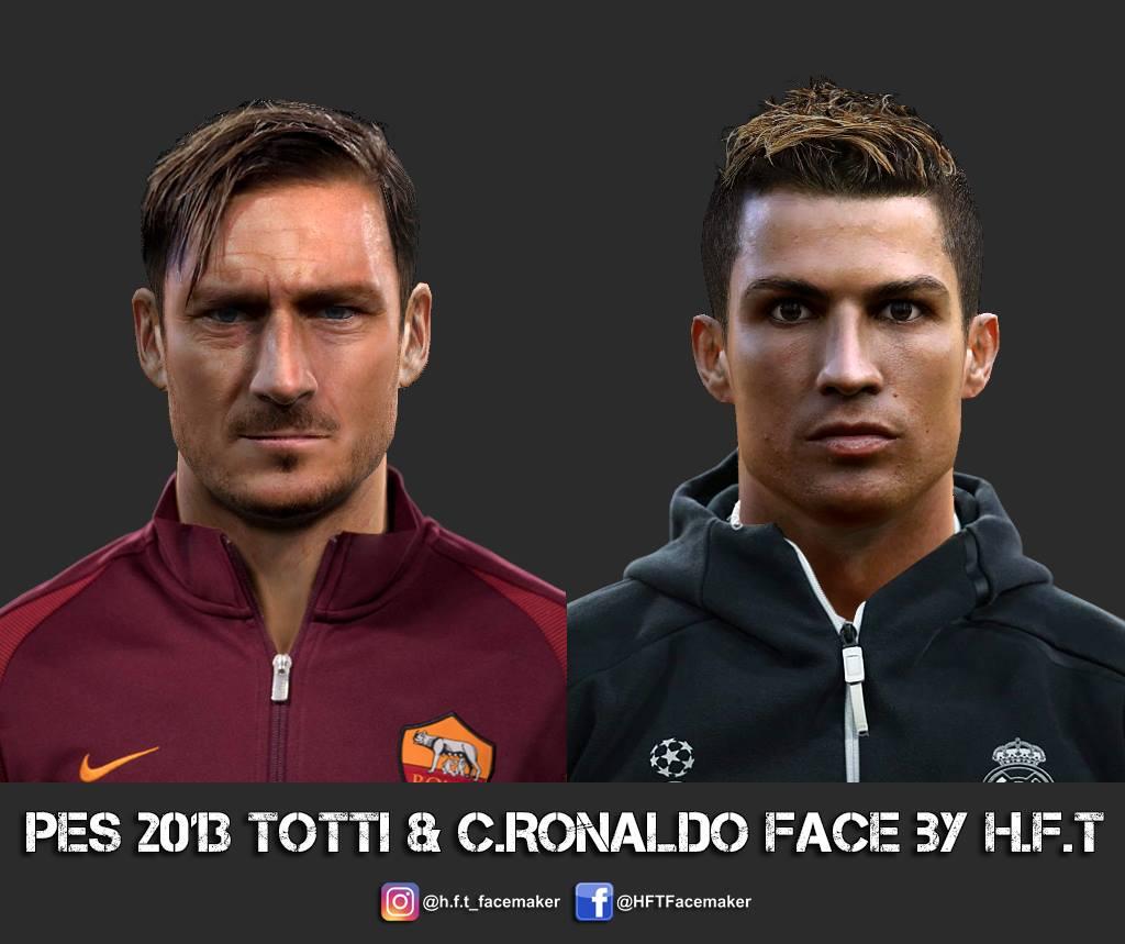 PESMODIF PES Totti CRonaldo Face By HFT - Download hair cristiano ronaldo pes 2013