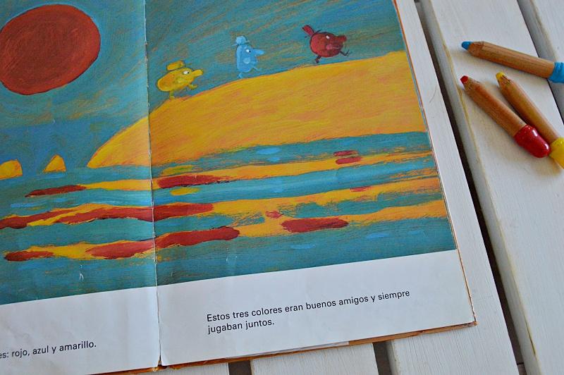 album ilustrado primeros lectores sobre los colores