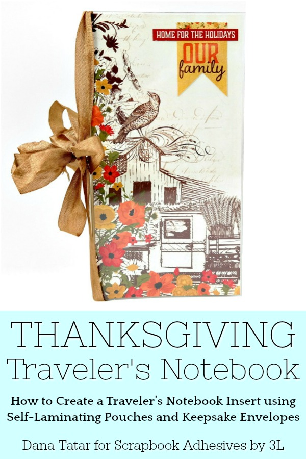 DIY Thanksgiving Traveler's Notebook Tutorial Using the Authentique Pleasant Collection