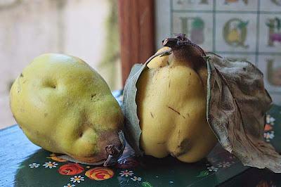 golden quince almond tart