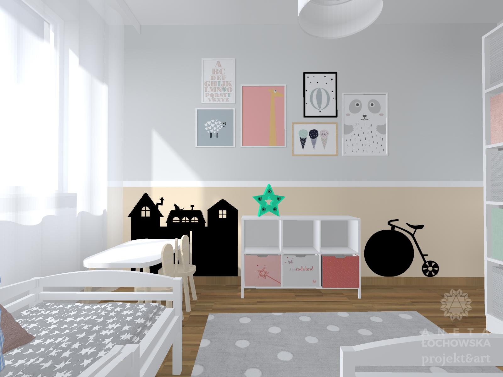 Pokoj Chlopca I Dziewczynki Studio Barw Swiat Wnetrz Z