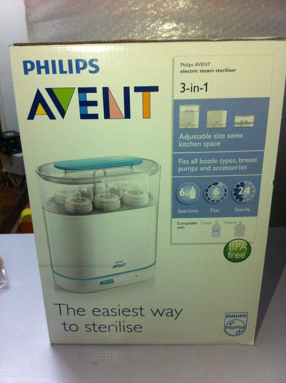 avent 3 in 1 steriliser instructions