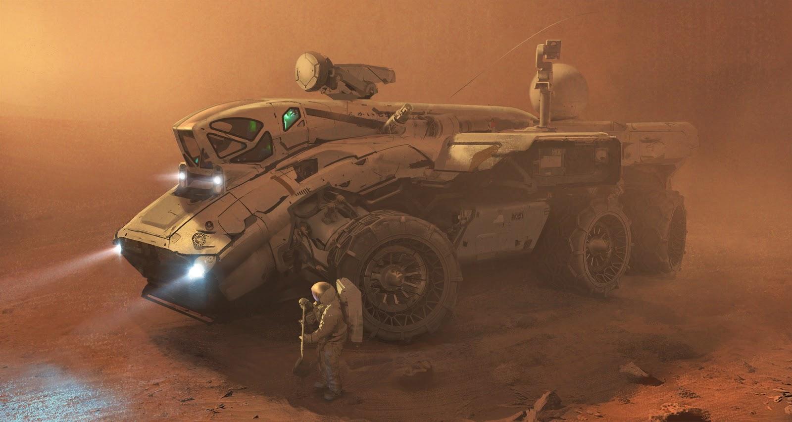 Mars rover by Erik van Helvoirt