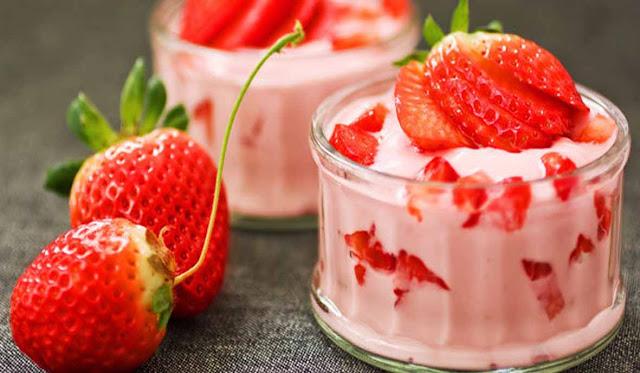 resep puding strawberry yogurt untuk perawatan