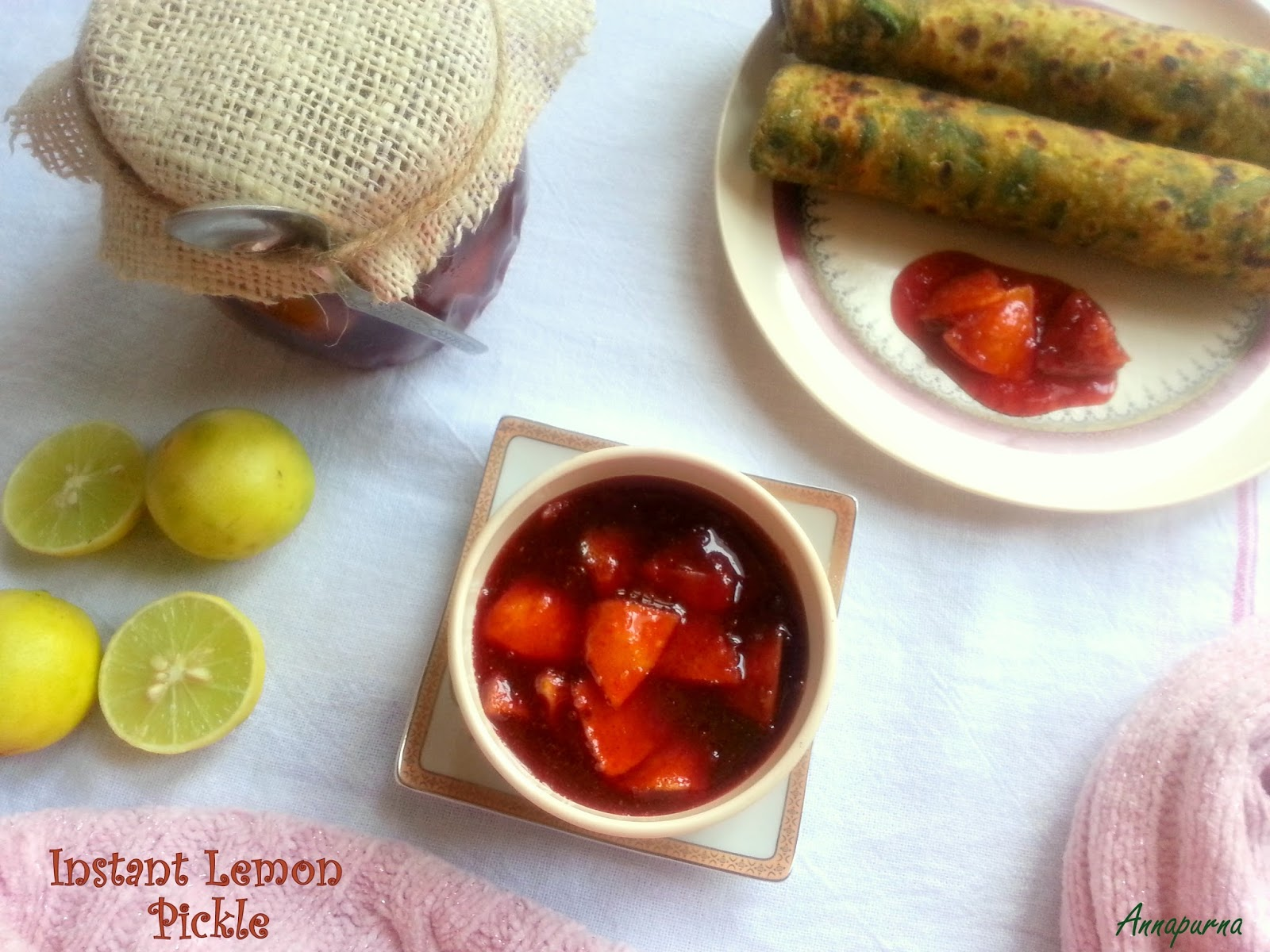 Annapurna Instant Lemon Pickle Recipe Without Oil