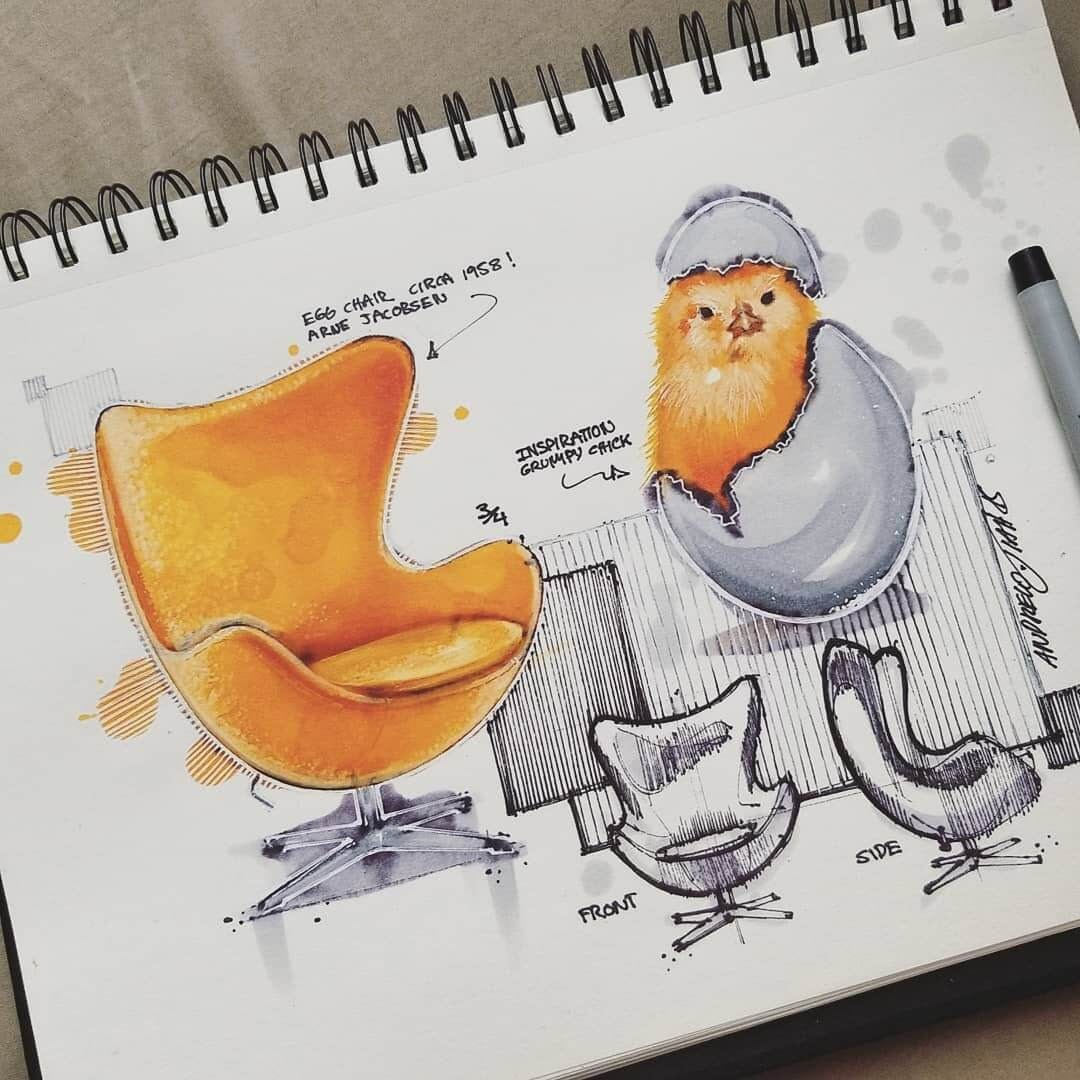 02-The-chick-and-the-Egg-Chair-by-Arne-Jacobsen-TiahDesign-Animal-Inspiration-for-Product-Design-www-designstack-co