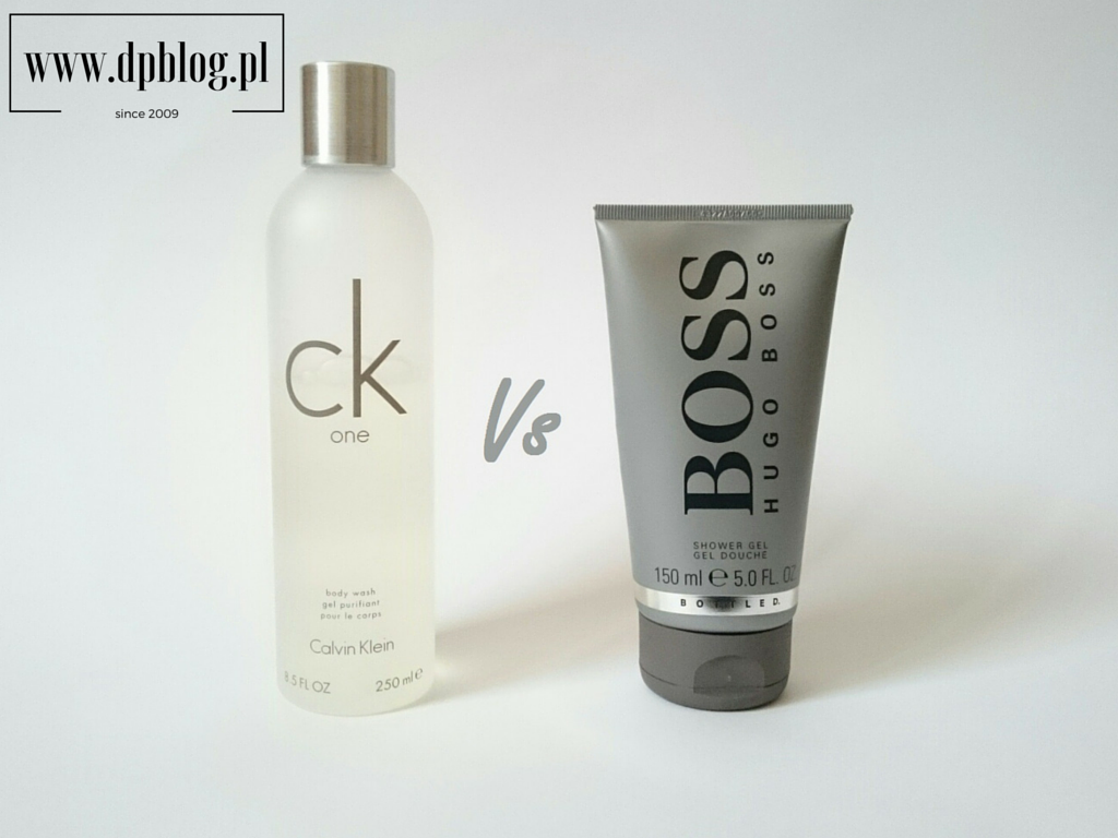 Żel pod prysznic CK One vs Hugo Boss No 6