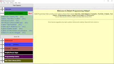Version 4.1.0 (Delphi Programming Helper)