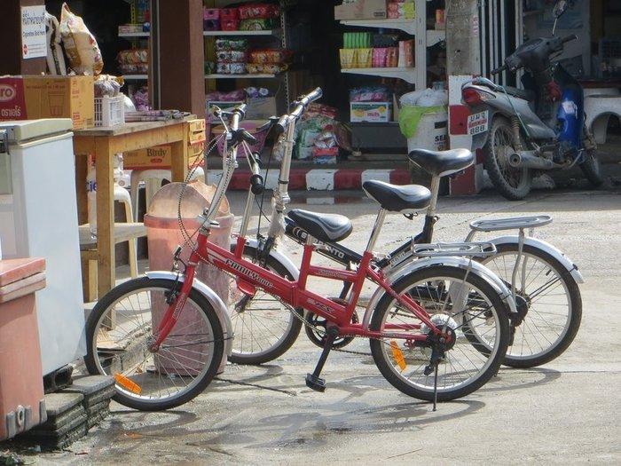 Складной велосипед с детским креслом