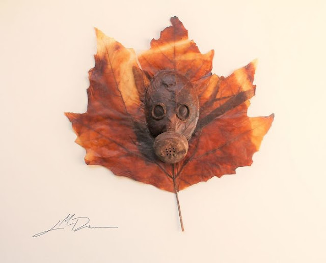 Leaf cutting art by Lorenzo Duran