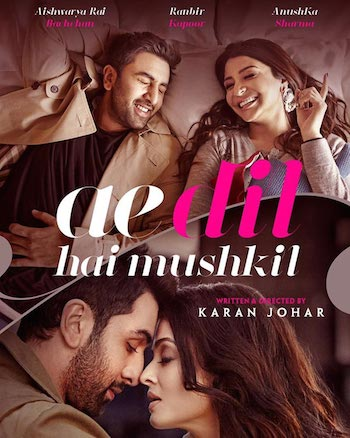 Ae Dil Hai Mushkil 2016 Hindi 480p DVDRip 450mb