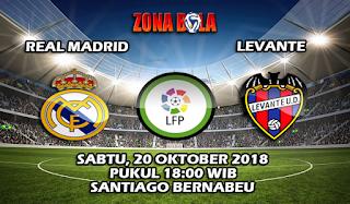 Prediksi Bola Real Madrid vs Levante 20 Oktober 2018