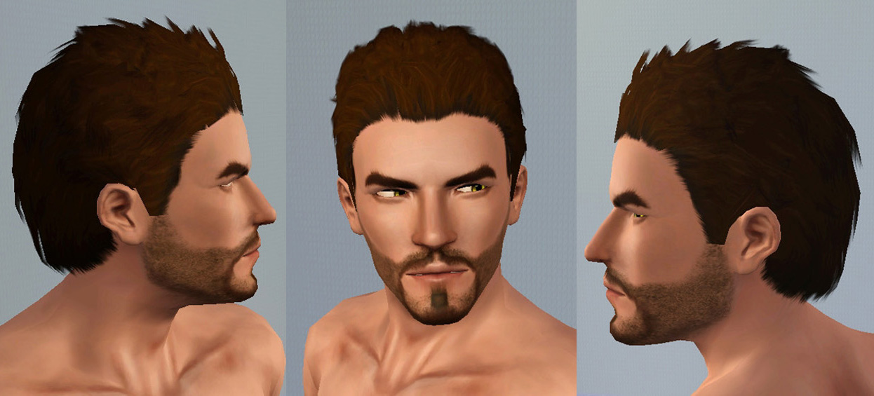 My Sims 3 Blog: Men's Spiky Brushed-Back Hair