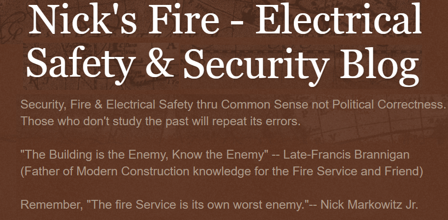Nick's Fire - Electrical- Safety  & Security Blog