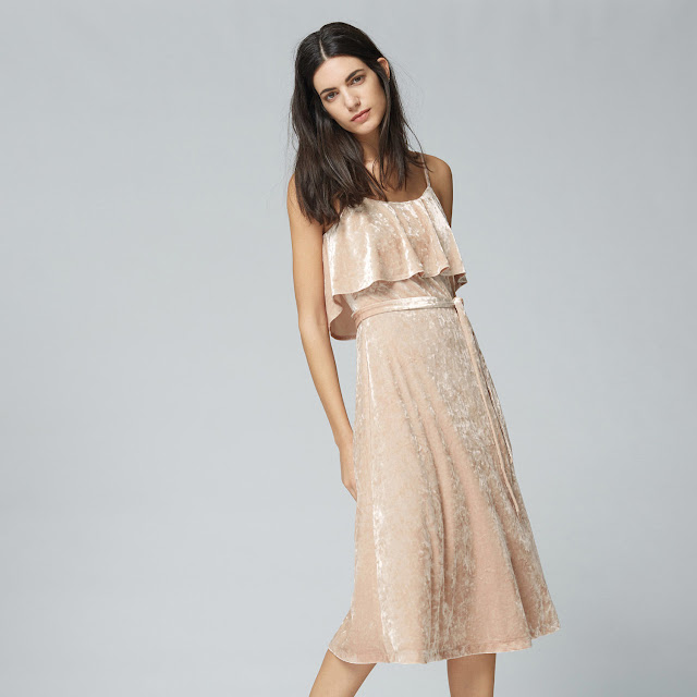 warehouse pink velvet dress, pink velvet dress,