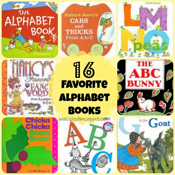 alphabet book list for preschoolers