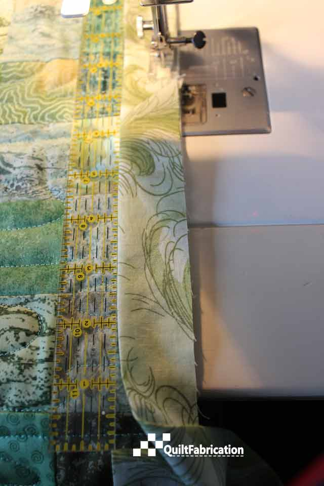 stop sewing with an eight inches left