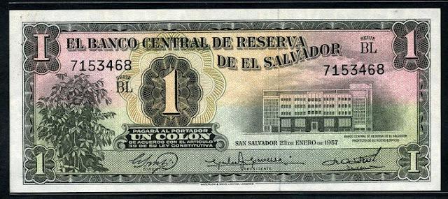 El Salvador currency 1 Colon