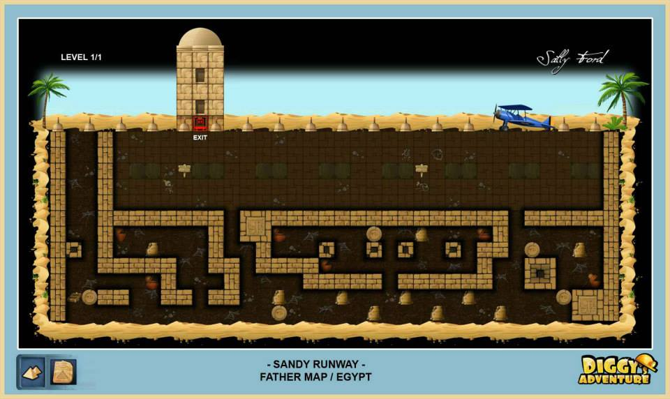 Diggy's Adventure Walkthrough: Egypt Father Quest / Sandy Runway